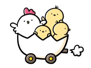 鶏とヒヨコ イメージ